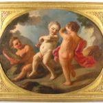 Feb11-3738Italian School, 18th Century, Three Putti, .27600
