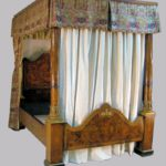 Feb11-4981Fine Dutch Marquety Queen Size Tester Bedstead, Late 18th C7029