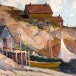 Feb11-737Walter Farndon, American, 1876-1964, Fisherman's Home.19200