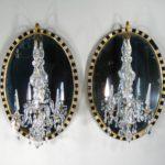 Pair Of George III Girandole Mirrors, Irish, C. 1790 And Later.40800