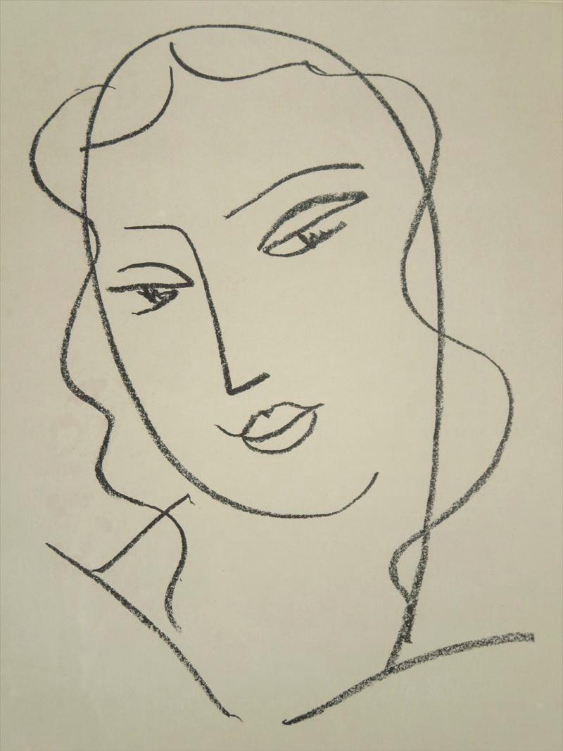 Henri Matisse, Etudes Pour La Vierge – Tete Voilee, 1951. Sold For $9,300