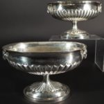Pair George III Sterling Silver Urns, 1763. Sold For $2,700