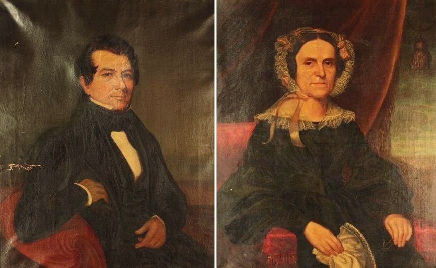 American School, C. 1830, Pair Of Pendant Portraits Of A New York Couple