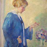 Arthur W. Crisp, Woman With Bouquet, 1915