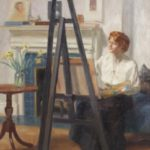 Frederick T. Weber, Woman At An Easel, 1916