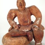 Japanese Wood Sculpture Of Sumo Wrestler, Japanese, 17th C.