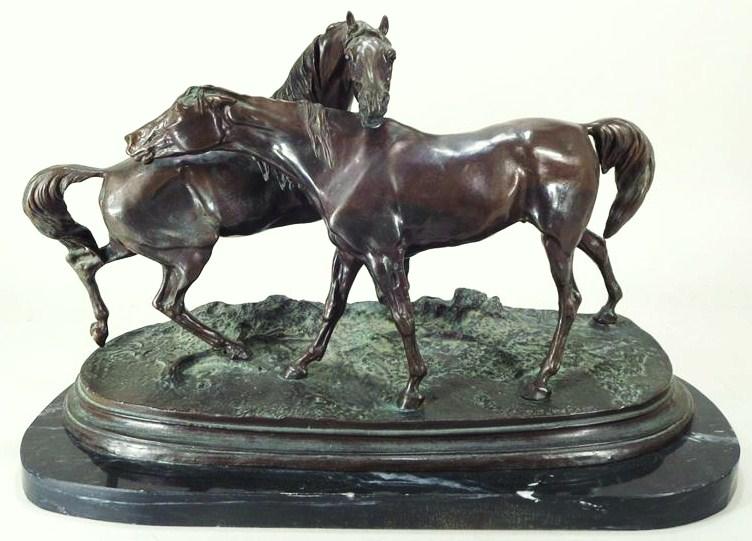 P.J. Mene, Two Horses, Bronze