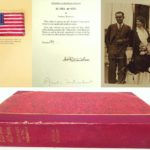 1928 Signed Amelia Earhart Book, 20 HRS. 40 MIN. Hand-Signed 1st Ed. With 'Friendship' Flag . SOLD FOR $2,304