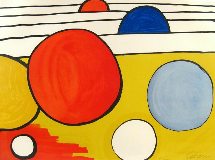 Alexander Calder, Untitled (Red, Blue, Yellow Circles)
