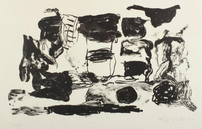 Philip Guston, American, 1913-1980, Untitled, Abstract, 1966. SOLD FOR $2,353