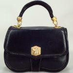 Vintage Barry Kieselstein-Cord Leather Handbag