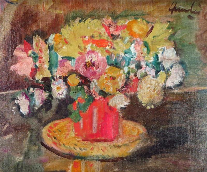George Leslie Hunter (1877-1931) Floral Still Life. Sold For 16.,876