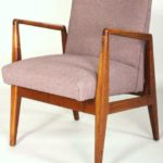 Jens Risom Walnut Chair C. 1950's
