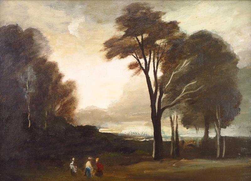 Philip Hugh Padwick, 1876-1958, Landscape With Figures