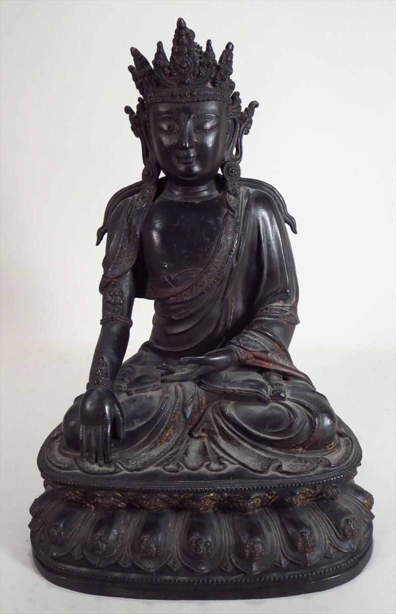 Chinese Ming Dynasty Bronze Figure Of A Bodhisattva. Sold For $68,758 On October 15.