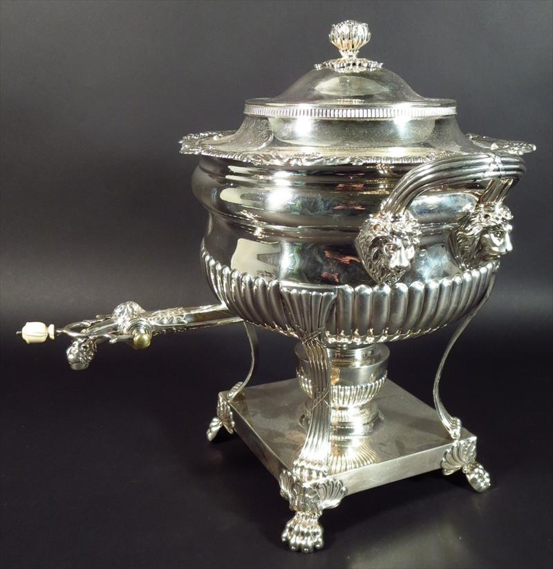 George III Sterling Silver Hot Water Urn, C. 1815. Sold For $4,875 On October 15.