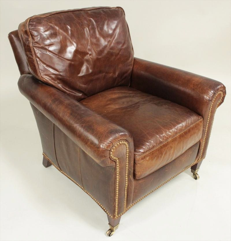 Hancock & Moore Brown Leather Chair