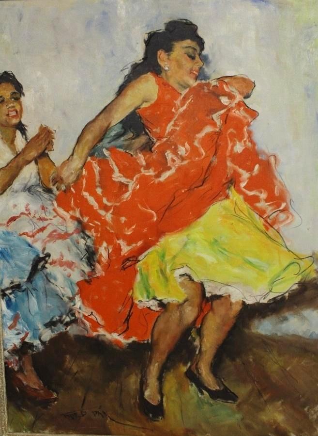 Pal Fried, Hungarian-American, 1893-1976, Dancers