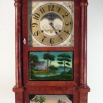 Willard Mahogany Cased Striking Mantle Clock, 19th C.