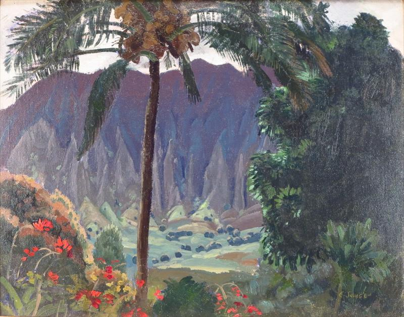Eugene Savage, American, 1883-1978, View Of A Valley, Hawaii. Sold For $7,256