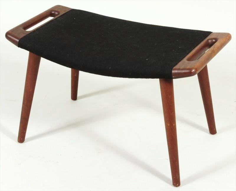 Hans Wegner Papa Bear Stool-Ottoman, Danish, Mid 1950's. Sold For $2,750