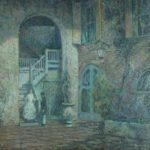 Wilson Irvine, Am., 1869-1936, Evening, Brulatour Courtyard, New Orleans, 1927-28. Sold For $6,812