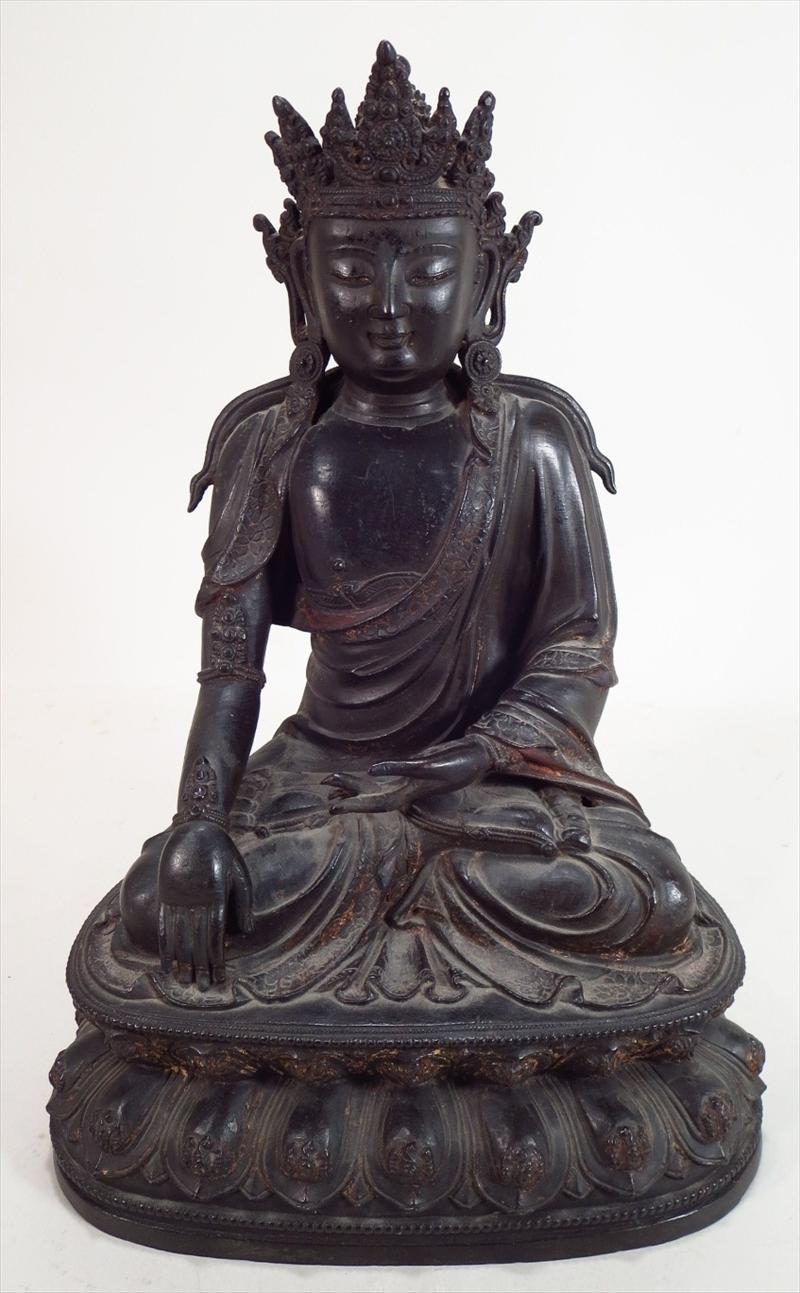Chinese Bronze Figure Of A Bodhisattva, Ming Dynasty. Sold For $60,000. April 2015