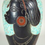 Rene Bertrand, French, 1877-1950, Art Deco Ceramic Vase. Sold For $8,506