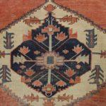 Heriz Carpet, Red Ground, Blue And White Central Medallion, Early 20th C.. Sold For $3,756