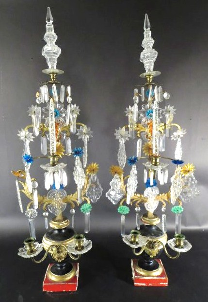 Pair Of Ornate Candelabra, Continental
