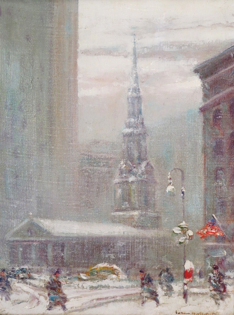Johann Berthelsen, 1883-1969, St. Paul's Church By City Hall. Sold For $6,093 In October 2015.