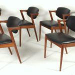 Set Of Six Kai Kristiansen Model 42 Dining Chairs, Danish, C. 1960's. Sold For $4,062 In October 2015.