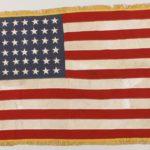 45-Star American Flag, 1896-1909, Stenciled Karl Staab US NAVY