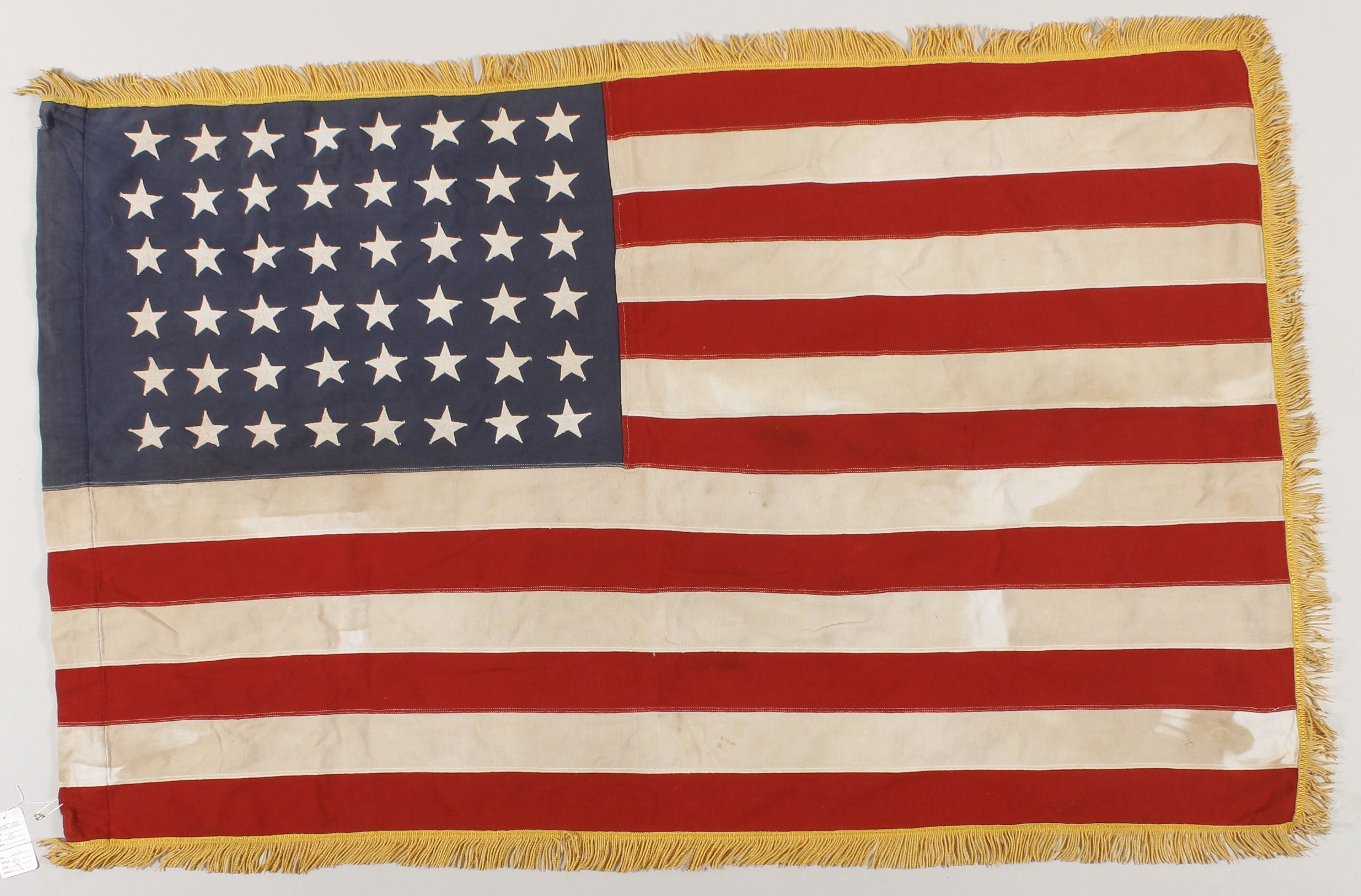 45-Star American Flag, 1896-1909, Stenciled Karl Staab US NAVY