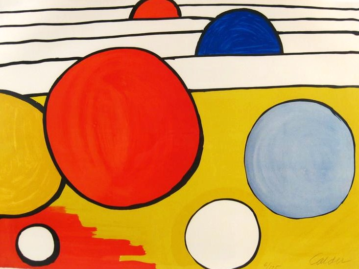 Alexander Calder, Red, Blue, Yellow Circles