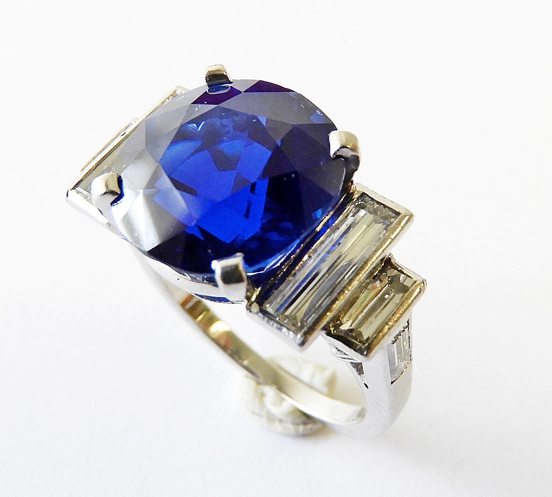1. Lot 108. Record Breaking 6-carat Kashmir Sapphire And Diamond Ring From The Estate Of Rosalie Coe Weir. Sold For $377,000 ($100,000-150,000)
