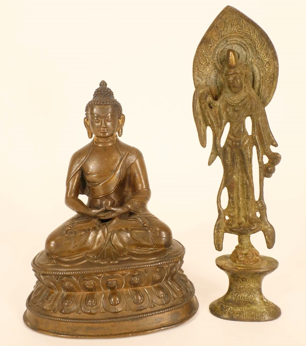 2 Asian Bronze Figures. Sold For $10,400