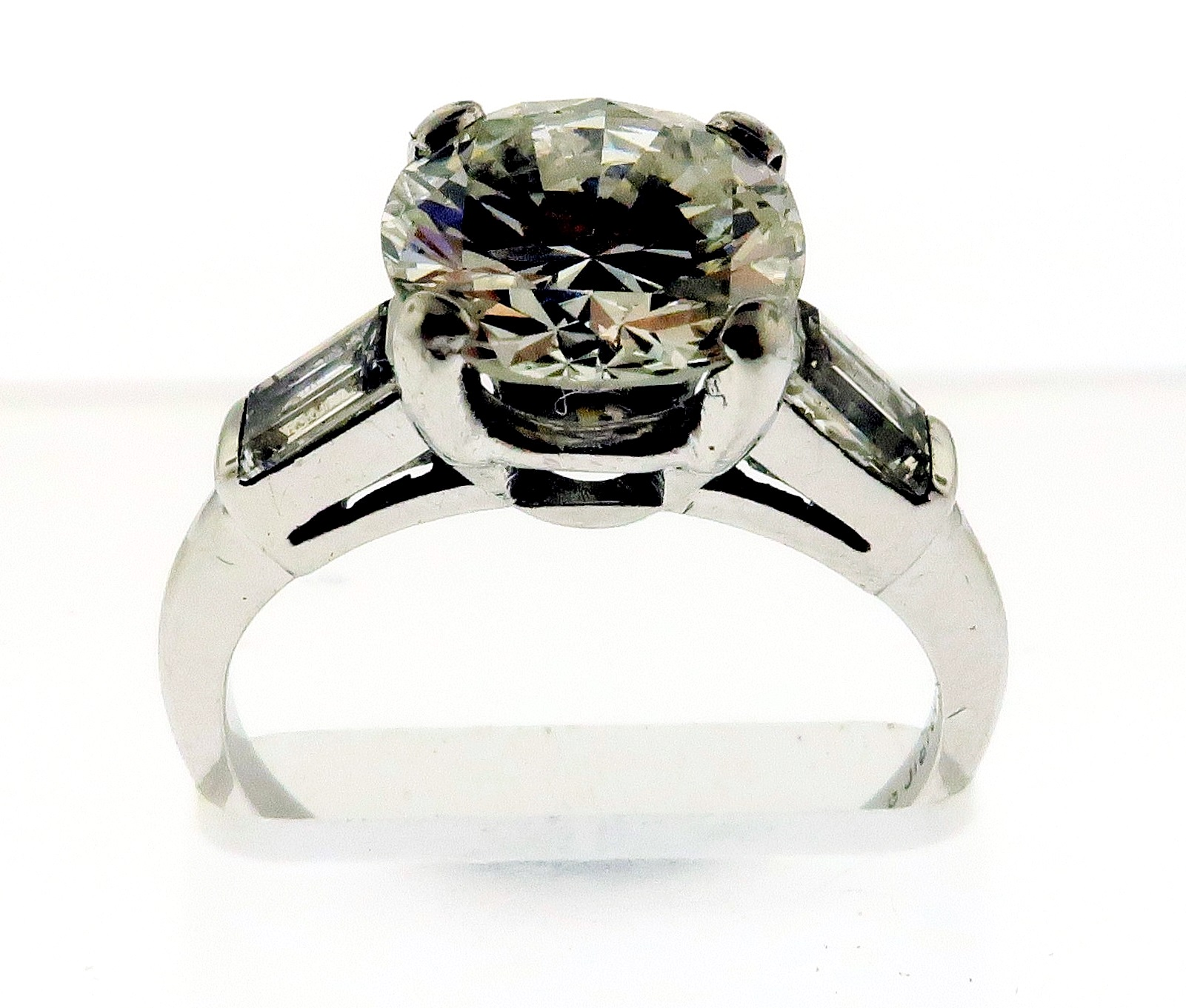 2 Carat Diamond Ring In Platinum Setting. Sold For $4,000
