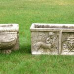 2 Carved Stone Outdoor Planters, 18th-19th C.. Sold For $16,800.