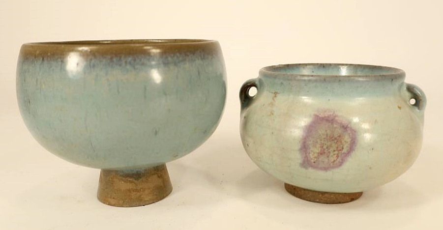 2 Chinese Pottery Chun Yao Bowls. Sold For $5,980