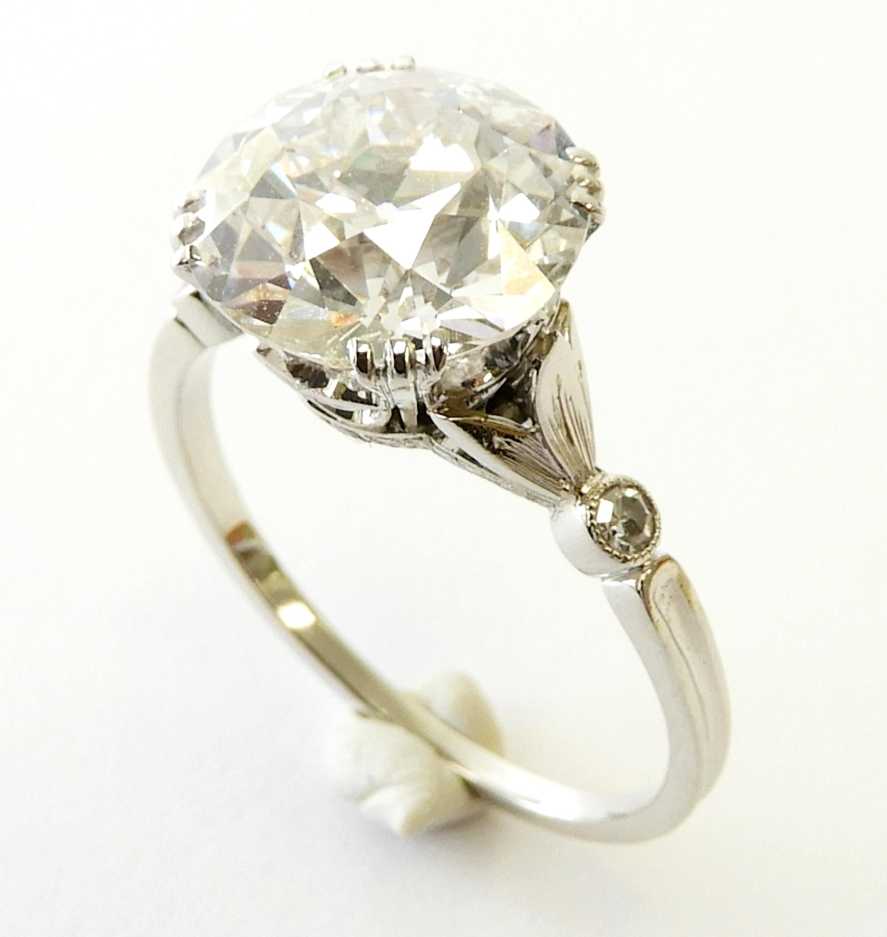 2. Lot 88. 4-carat Diamond And Platinum Engagement Ring From The Estate Of Rosalie Coe Weir. Sold For $78,000 ($50,000-80,000)