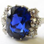 3. Lot 117. 7-carat Burmese Sapphire And Diamond Ring, From The Estate Of Rosalie Coe Weir. Sold For $59,800 ($20,000-25,000)