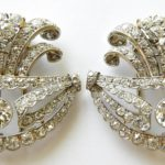 4. Lot 100. Pair Of Cartier Diamond Brooch Clips, From The Estate Of Rosalie Coe Weir. Sold For $29,900 ($20,000-25,000)