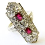 6. Lot 97. Cartier Ruby And Diamond Cocktail Ring, From The Estate Of Rosalie Coe Weir. Sold For $16,900 ($3,000-5,000)