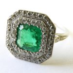 7. Lot 93. Tiffany & Co. Emerald And Diamond Dinner Ring. Sold For $10,075 ($2,000-4,000)