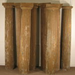 8 Architectural Wood Columns, 19th-20th C. Sold For $4,500.