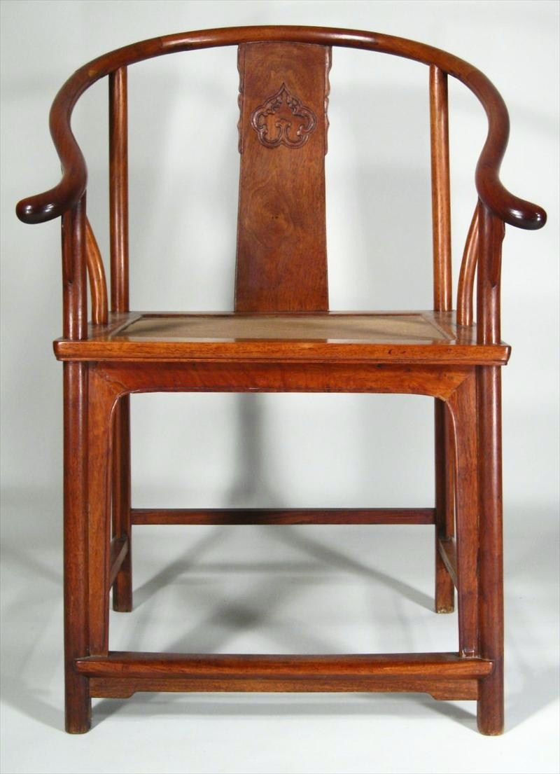 A Huang Hua-li Horseshoe Armchair, Chinese, 17th C.. Sold For $26,400.