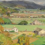 Abel George Warshawsky, CA, 1883-1962, 'Smiling Valley, Carmel, March 1944', Oil On Canvas. Sold For $31,200.