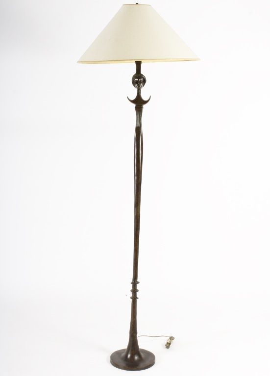 After Alberto-Diego Giacometti (Swiss) For Jean-Michel Frank Bronze Floor Lamp, Tete De Femme, 1935. Sold For $6,563