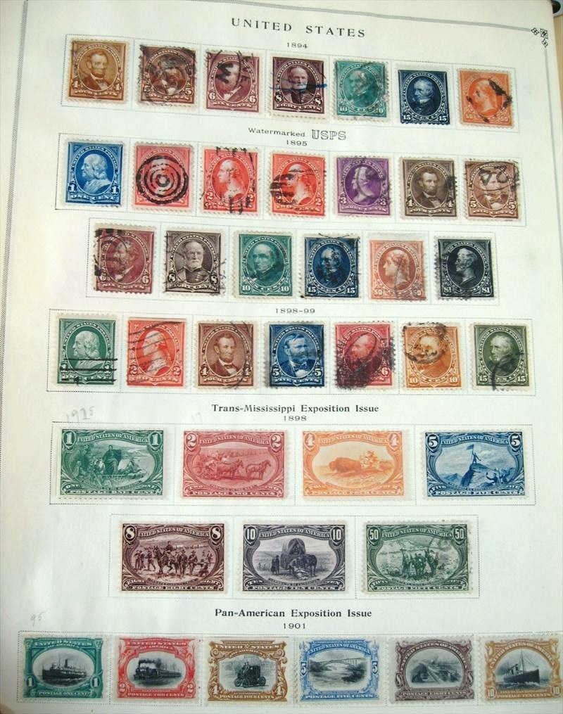 Album Containing United States Postage Stamps, 1850's-1960's. Sold For $4,500.